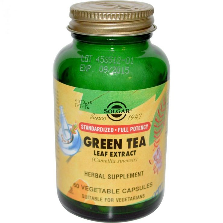 СОЛГАР Экстракт листьев зеленого чая капс. №60
