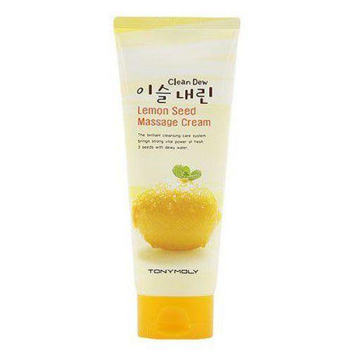 Clean Dew Lemon Seed Massage Cream - Крем для умывания (лимон), 150 мл