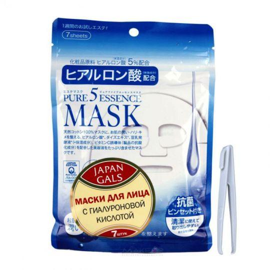 Маска для лица с гиалуроновой кислотой Japan Gals