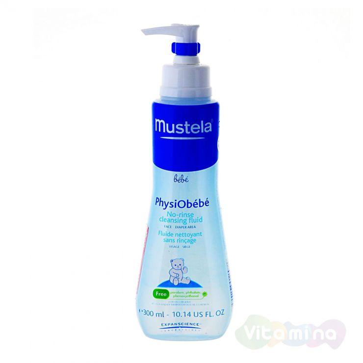 Мустела Жидкость очищающая для лица и тела «Physiobebe» для новорожденных, младенцев и детей