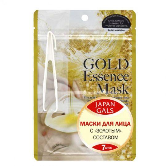 Маска для лица с золотым составом Japan Gals