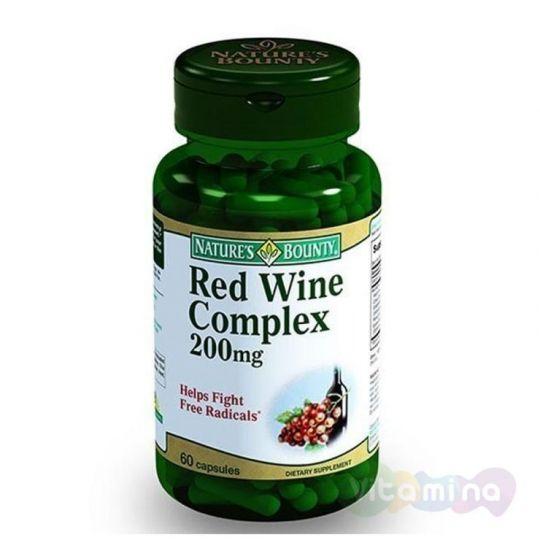 Нэйчес Баунти Комплекс красного вина, 60 капс.