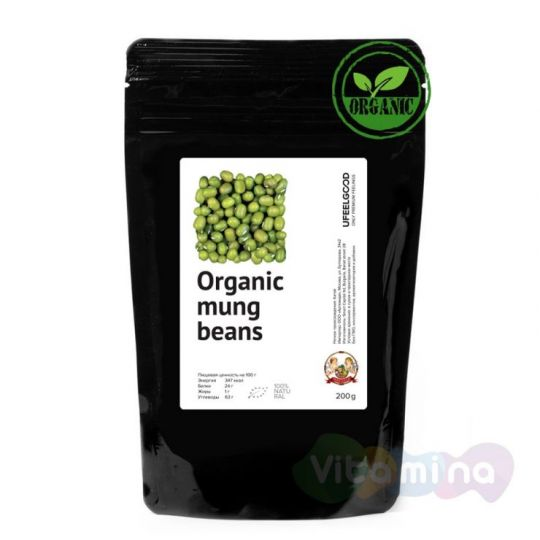 Organic Бобы Мунг (Mung beans), 150 г