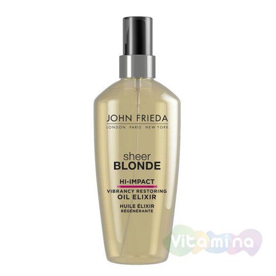 Масло-эликсир для восстановления сильно поврежденных волос John Frieda Sheer Blonde Hi-Impact
